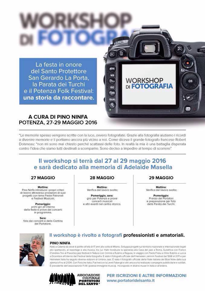 workshop locandina